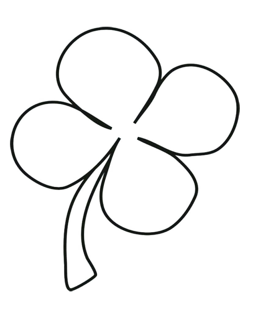 Inspirational Four Leaf Clover Coloring Pages | Coloring Pages - Four Leaf Clover Template Printable Free