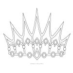 Inspiring King And Queen Crown Templates Colouring In Beatiful Free   Free Printable King Crown Template