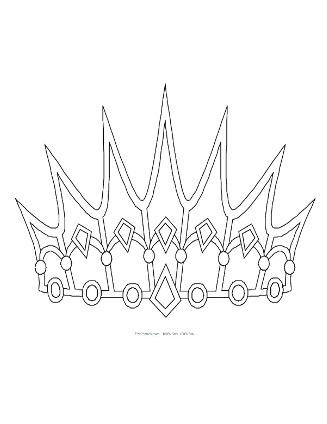 Inspiring King And Queen Crown Templates Colouring In Beatiful Free - Free Printable King Crown Template