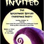 Inspiring Nightmare Before Christmas Birthday Invitations For   Free Printable Nightmare Before Christmas Birthday Invitations