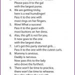 Interesting Game?? Baby Shower Pass The Parcel Rhyme | Fight For   Pass The Prize Baby Shower Game Free Printable