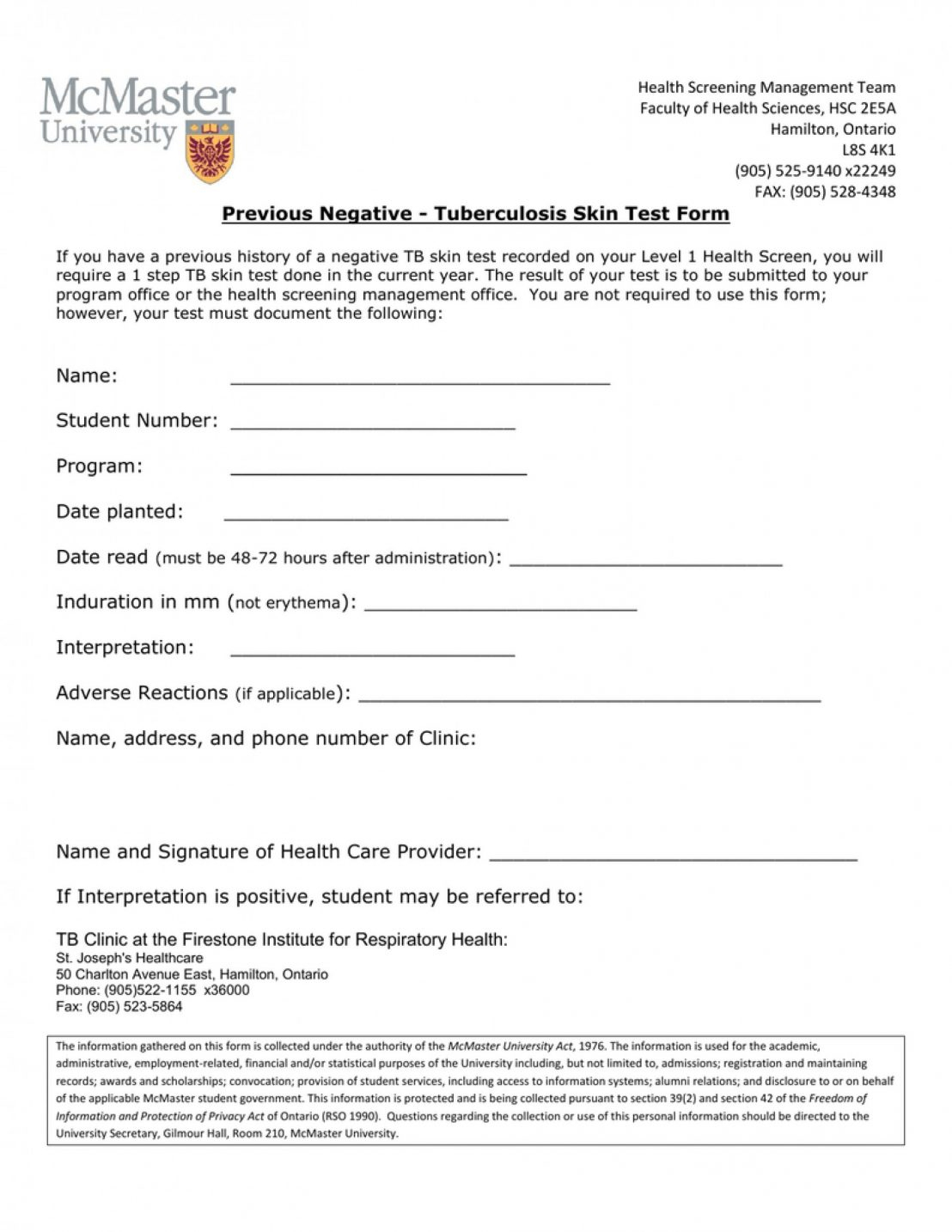 Interview Questionnaire Form Alternative Knowledge Worker - Free Printable Tb Test Form