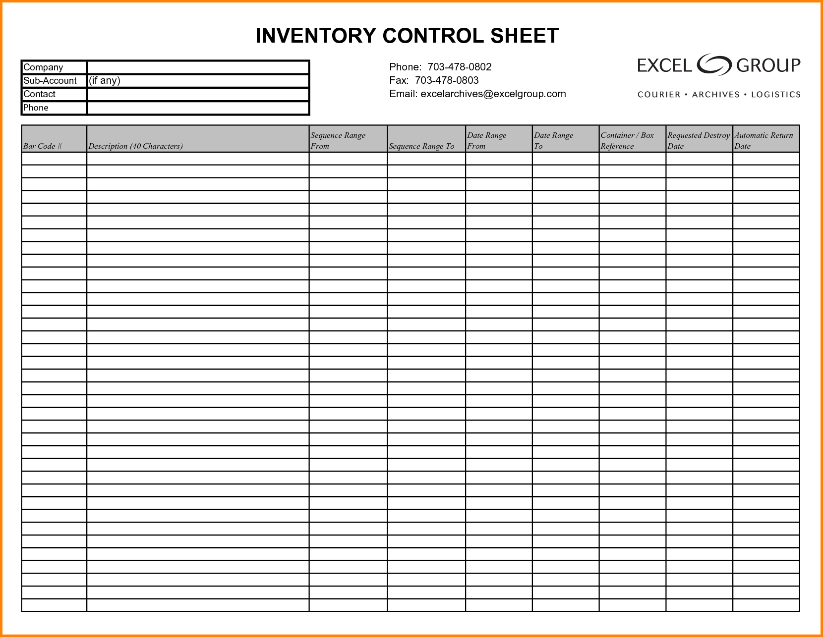 Inventory Sample Sheet - Kaza.psstech.co - Free Printable Inventory Sheets Business