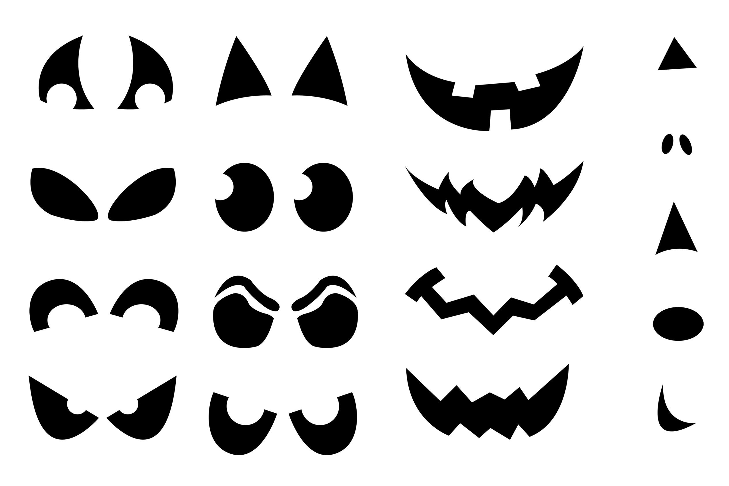 Jack-O'-Lantern Shirt Stencils | Craft Buds - Jack O Lantern Templates Printable Free