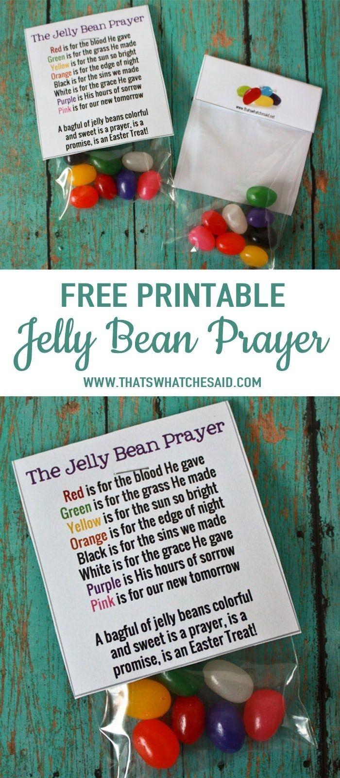 Jelly Bean Prayer Free Printable | As Seen On Thatswhatchesaid - Free Printable Easter Sermons