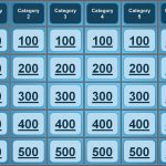 Jeopardy Powerpoint Template Great For Quiz Bowl, Catechism, Bible   Free Printable Jeopardy Template