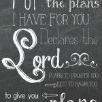 Jeremiah 29:11 Free Chalkboard Printable | F Dean Hackett   Jeremiah 29 11 Free Printable
