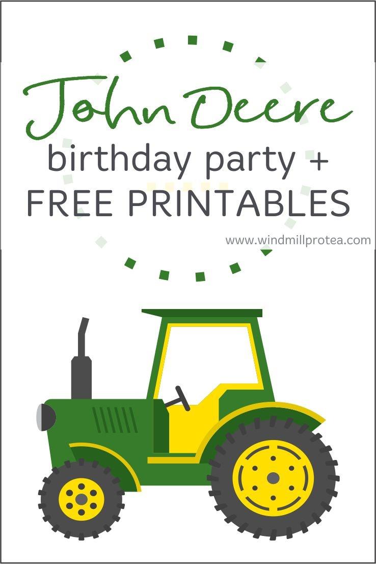 John Deere Birthday Party | Kids Parties | Windmill & Protea - Free Printable John Deere Food Labels