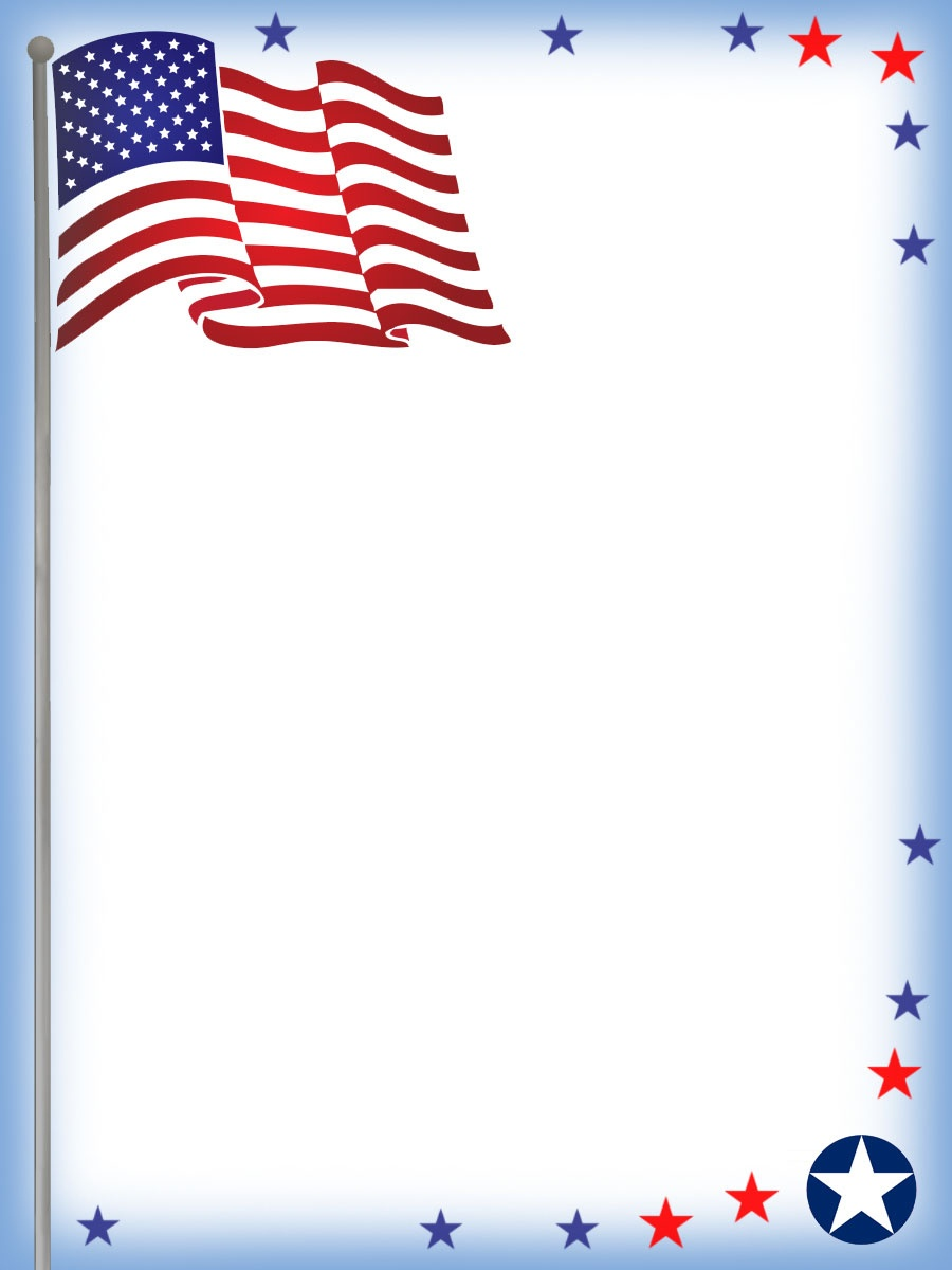July Fourth Stationery: Usa Flag Notepaper | Rooftop Post Printables - Free Printable 4Th Of July Stationery