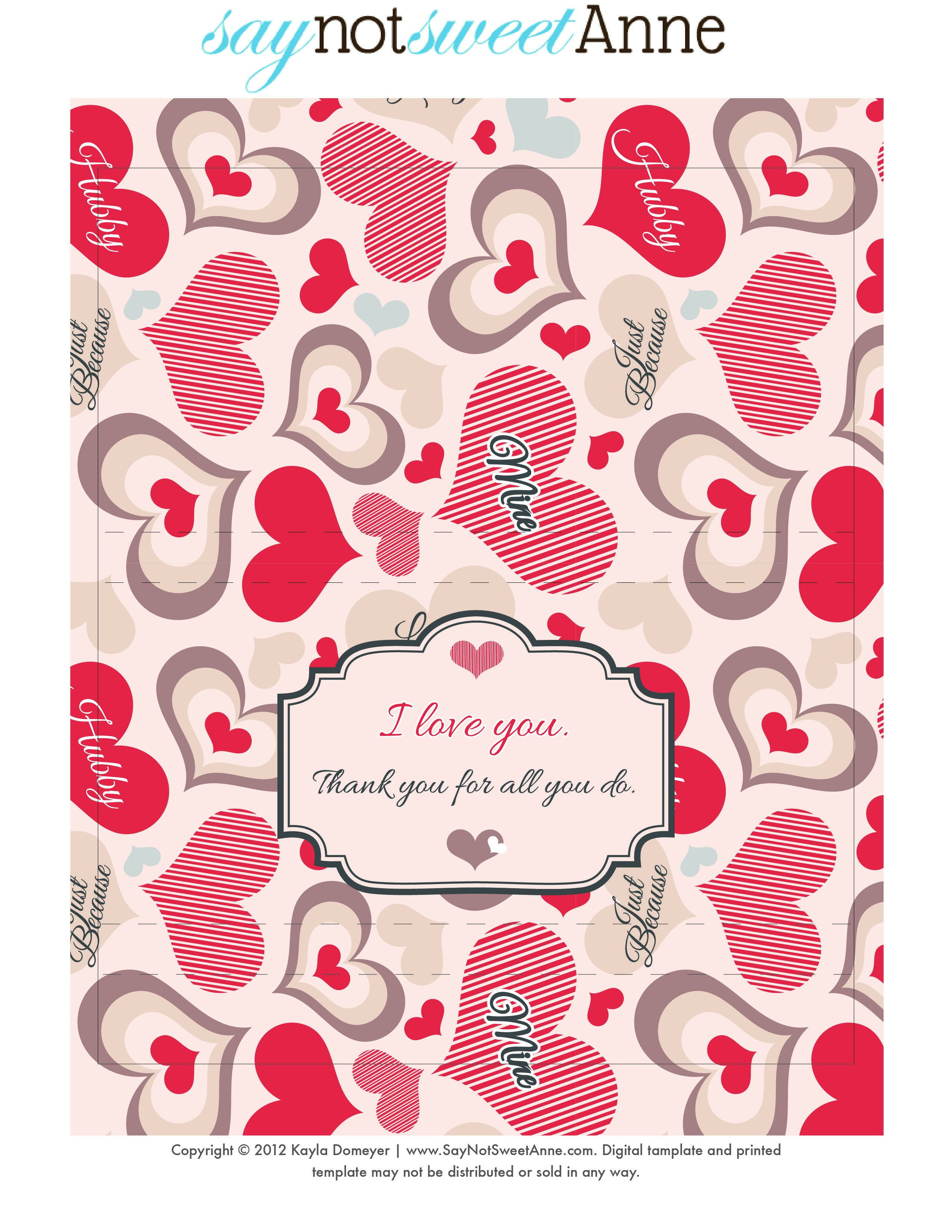 Just Because Candy [Free Printable | Digi Freebies | Free Candy - Free Candy Wrapper Printable