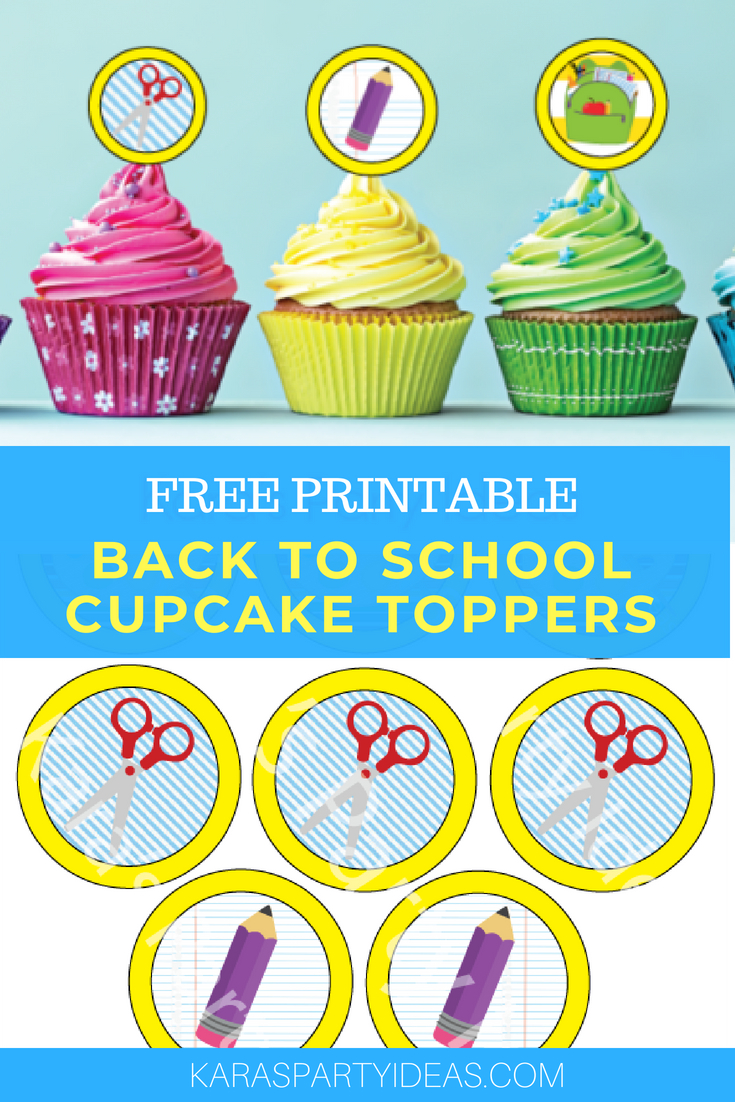 Kara's Party Ideas Free Printable Back To School Cupcake Toppers - Free Printable Sofia Cupcake Toppers