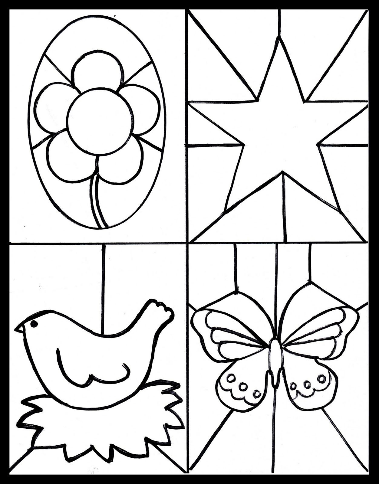 Kid's Craft, Stained Glass Free Printable | Blogger Crafts We Love - Free Printable Crafts