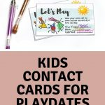 Kids Play Date / Keep In Touch Cards |Melanie @ The Story Of   Free Printable Play Date Cards