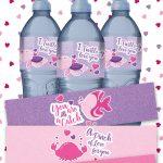 Kids Valentine Water Bottle Labels (Free Printable)   Fun For Little   Free Printable Labels For Bottles