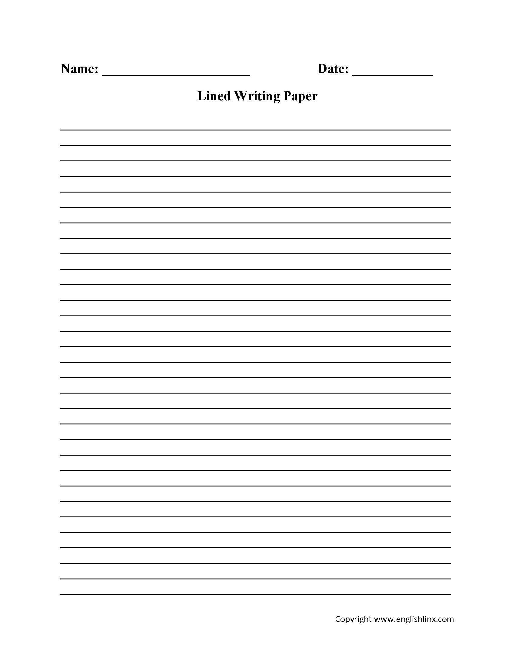 Kids Writing Paper Png & Free Kids Writing Paper Transparent - Free Printable Lined Handwriting Paper