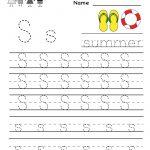 Kindergarten Letter S Writing Practice Worksheet Printable | G   Free Printable Handwriting Sheets For Kindergarten