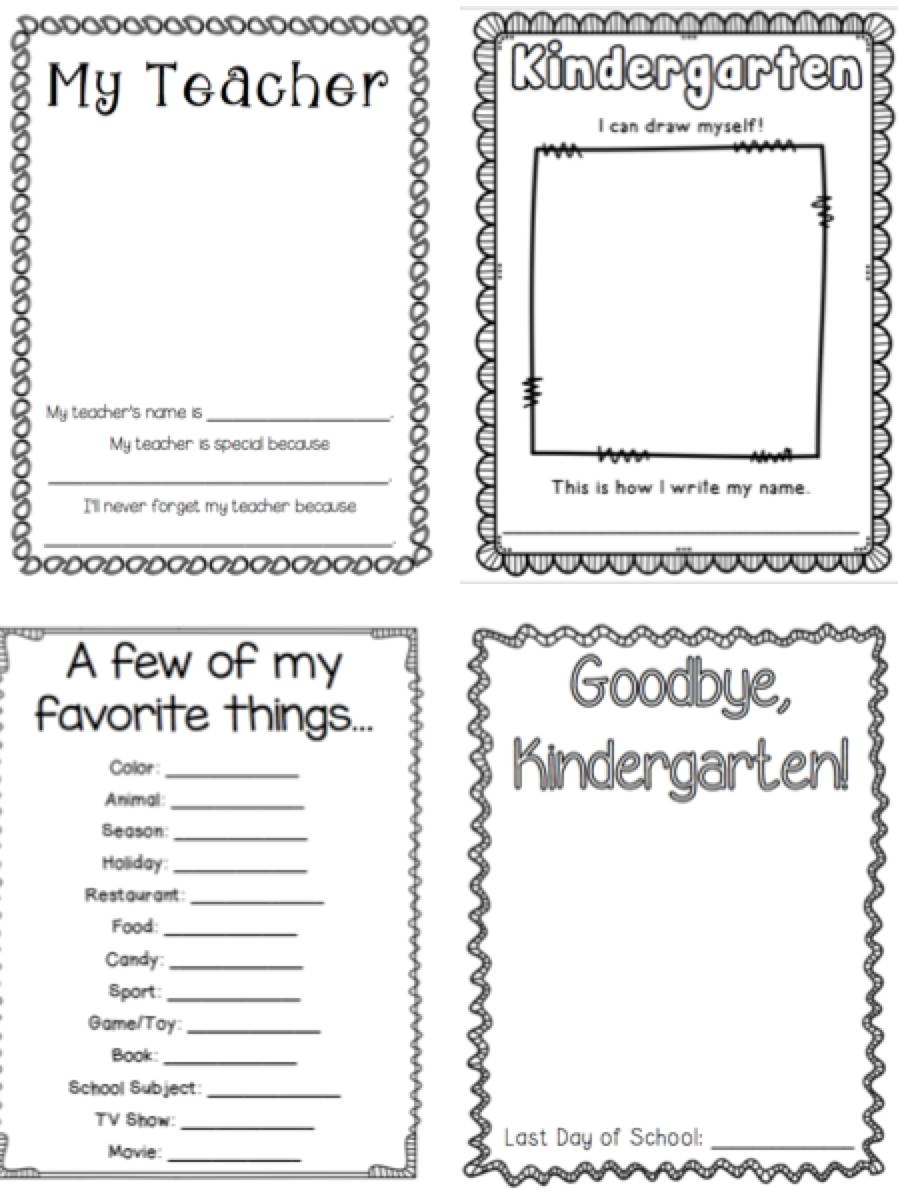 Kindergarten Memory Book | Kindergartenklub | Kindergarten - Free Printable Preschool Memory Book