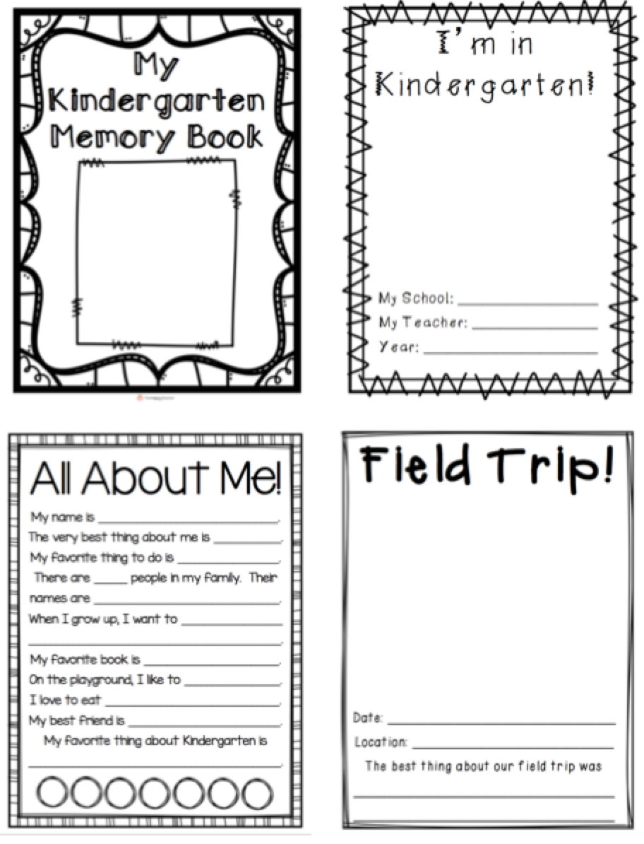 Kindergarten Memory Book | Thehappyteacher - Free Printable Preschool Memory Book