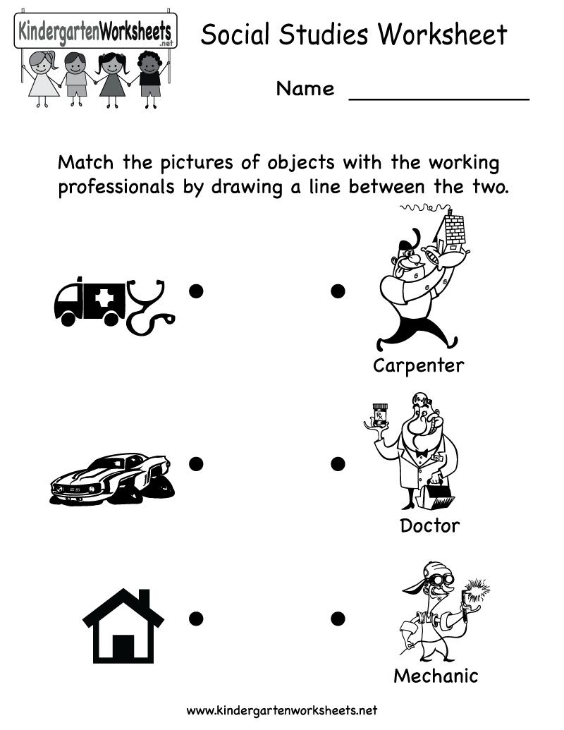 Kindergarten Social Studies Worksheet Printable   Worksheets (Legacy - Free Printable Worksheets For 2Nd Grade Social Studies
