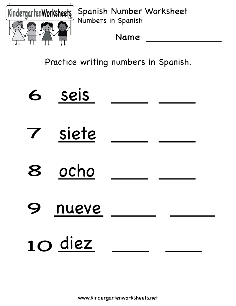 Kindergarten Spanish Number Worksheet Printable | Teaching Spanish - Free Printable Elementary Spanish Worksheets