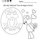 Kindergarten Valentine's Day Activities Worksheet Printable   Cute   Free Printable Preschool Valentine Worksheets