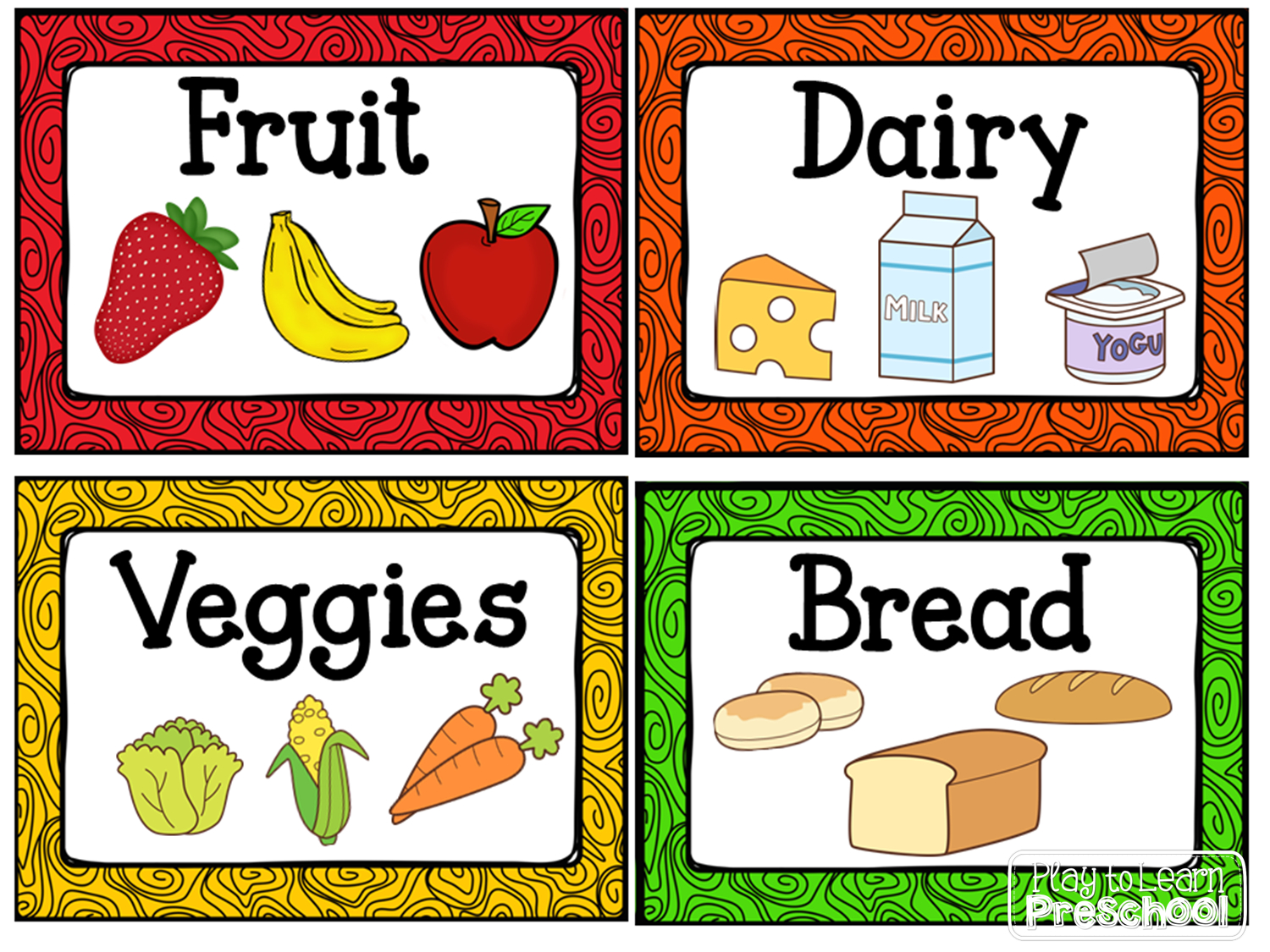 Kitchen Dramatic Play Center | Centers | Dramatic Play Centers - Free Printable Play Food Labels