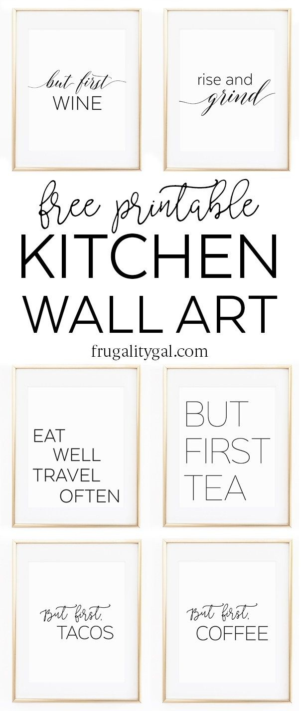 Kitchen Gallery Wall Printables   Free Printable Wall Art - Free Printable Wall Posters