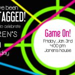 Larcie Bird: Neon Laser Tag {Birthday Party} | Laser Tag Party   Free Printable Laser Tag Invitation Template