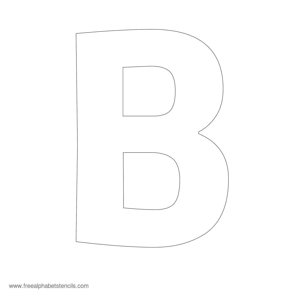 Large Alphabet Stencils | Freealphabetstencils - Printable Alphabet Letters Free Download