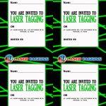 Laser Tag Free Printables | Laser Tag Invitations Printable Free   Free Printable Laser Tag Invitation Template