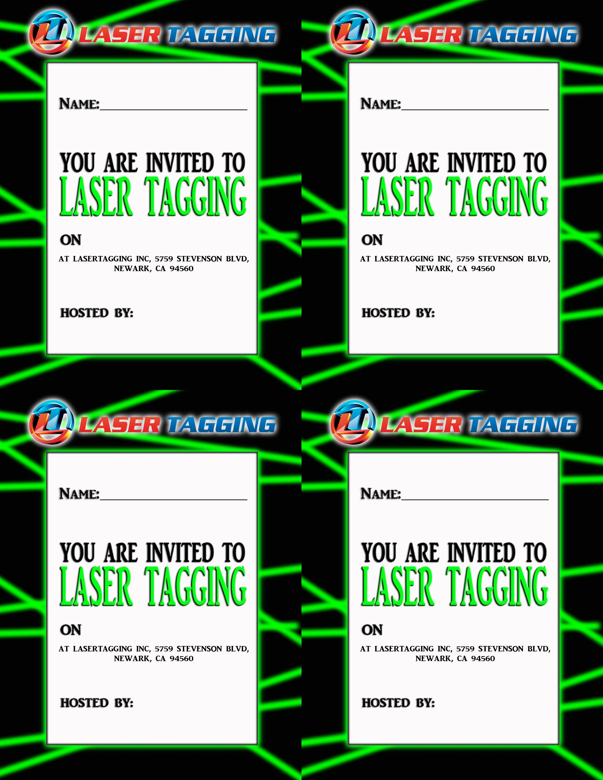 Laser Tag Free Printables | Laser Tag Invitations Printable Free - Free Printable Laser Tag Invitation Template