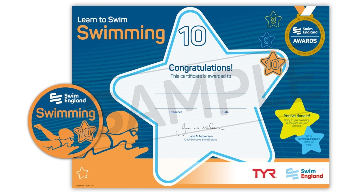 Learn To Swim Stages 8-10 | Swim England Learn To Swim Programme - Free Printable Swimming Certificates For Kids