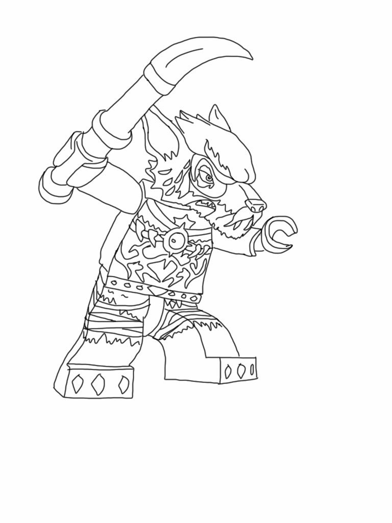 Lego Chima Wolf (My Son Would Probably Know Which One But I Don't - Free Printable Lego Chima Coloring Pages