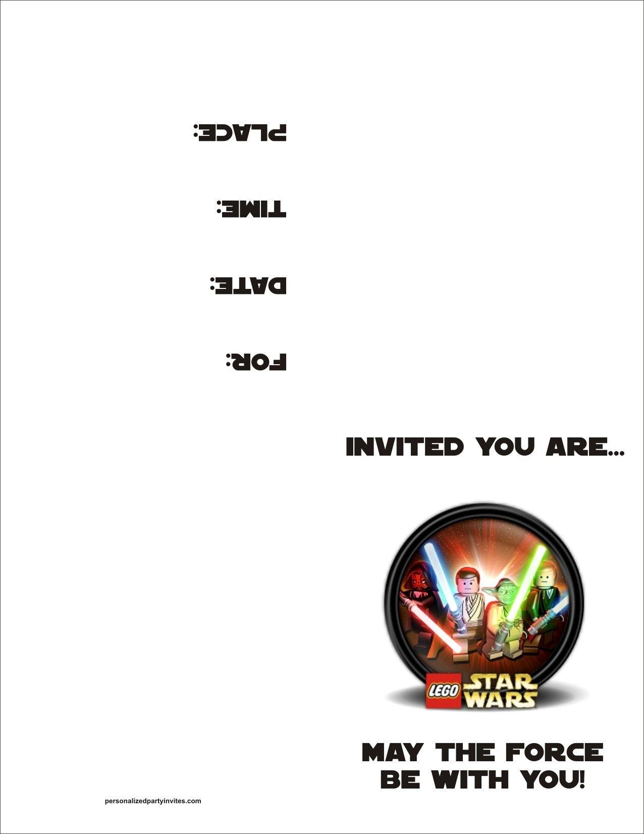 Lego+Star+Wars+Party+Invitations+Printable+Free | Costume In 2019 - Star Wars Invitations Free Printable