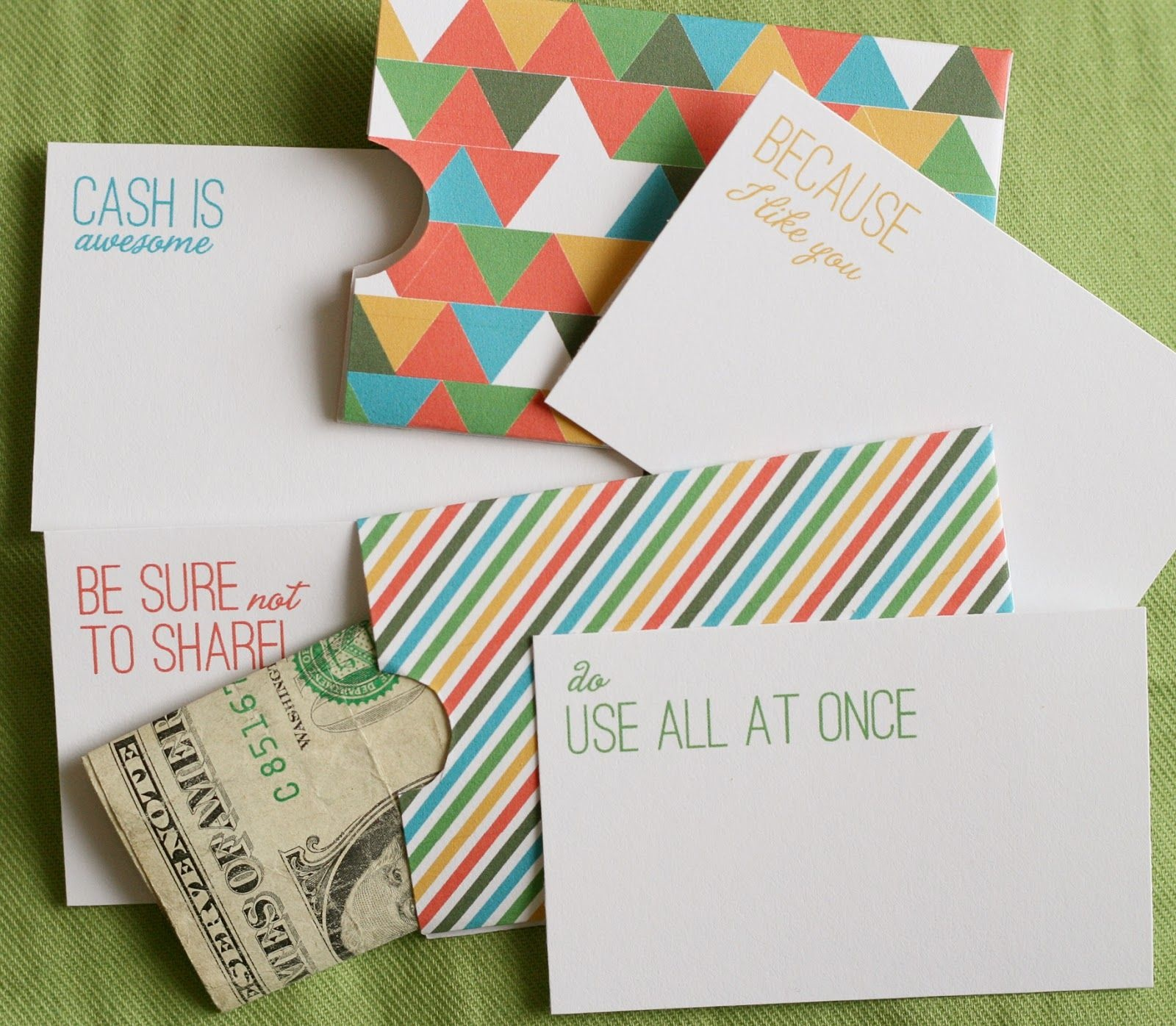 Lemon Squeezy: Day 12: Cash Holder | ~Printables~ ✂ | Free - Free Printable Money Cards For Birthdays