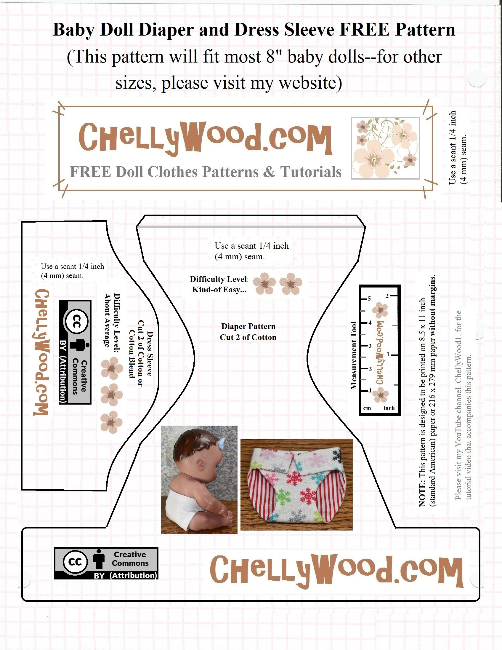Let's #sew A Wee #diaper For Baby #dolls W/free #pattern At - Cloth Diaper Pattern Free Printable