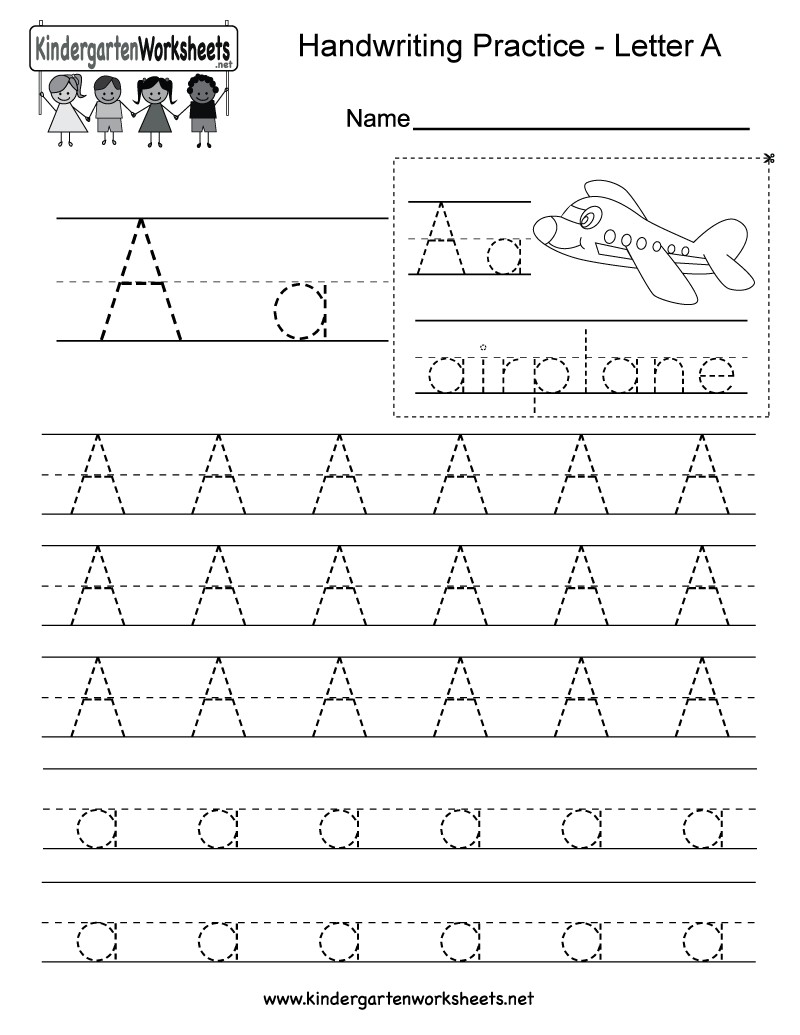 Letter A Writing Practice Worksheet - Free Kindergarten English - Free Printable Letter Writing Worksheets