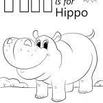 Letter H Is For Hippopotamus Coloring Page | Free Printable Coloring   Free Printable Hippo Coloring Pages