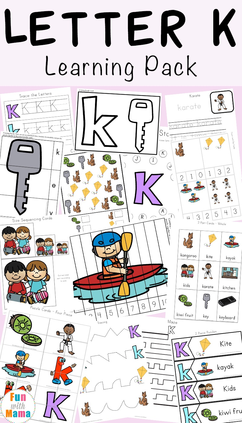 Letter K Worksheets - Fun With Mama - Free Printable Letter K Worksheets