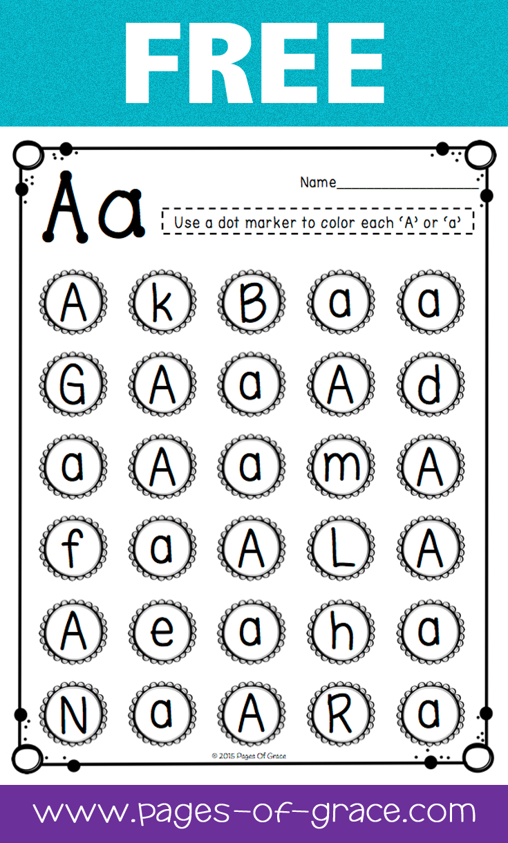 Letter Recognition   Pages Of Grace Resources   Teaching Letters - Free Printable Letter Recognition Worksheets