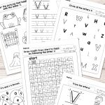 Letter V Worksheets   Alphabet Series   Easy Peasy Learners   Free Printable Worksheets