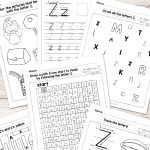 Letter Z Worksheets   Alphabet Series   Easy Peasy Learners   Letter Z Worksheets Free Printable