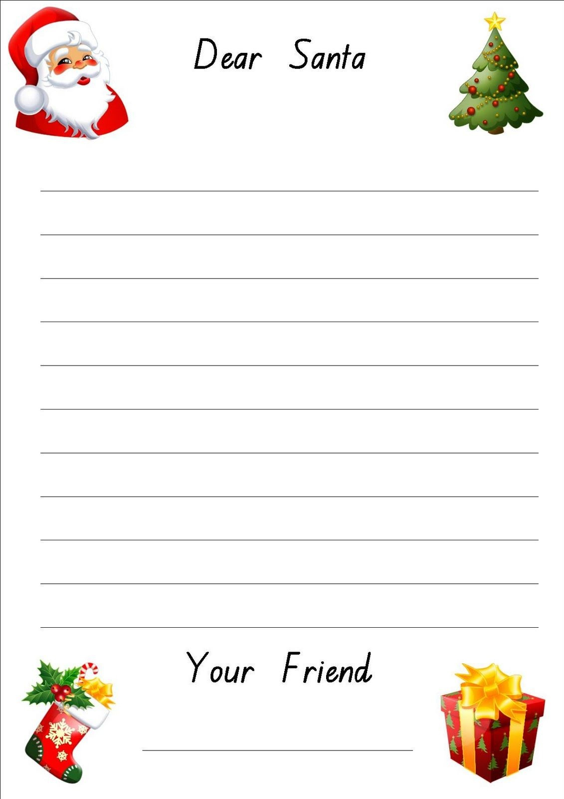 Lined Christmas Paper For Letters | Do Your Kids Write Letters To - Free Printable Christmas Writing Paper With Lines