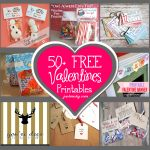 List Of Free Valentine's Printable Cards, Banners, Bag Toppers, Tags   Free Printable Valentine Decorations