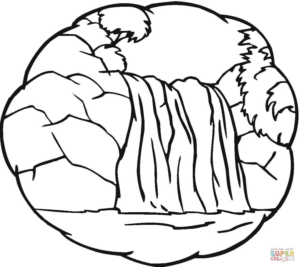 Little Waterfall Coloring Page | Free Printable Coloring Pages - Free Printable Waterfall Coloring Pages