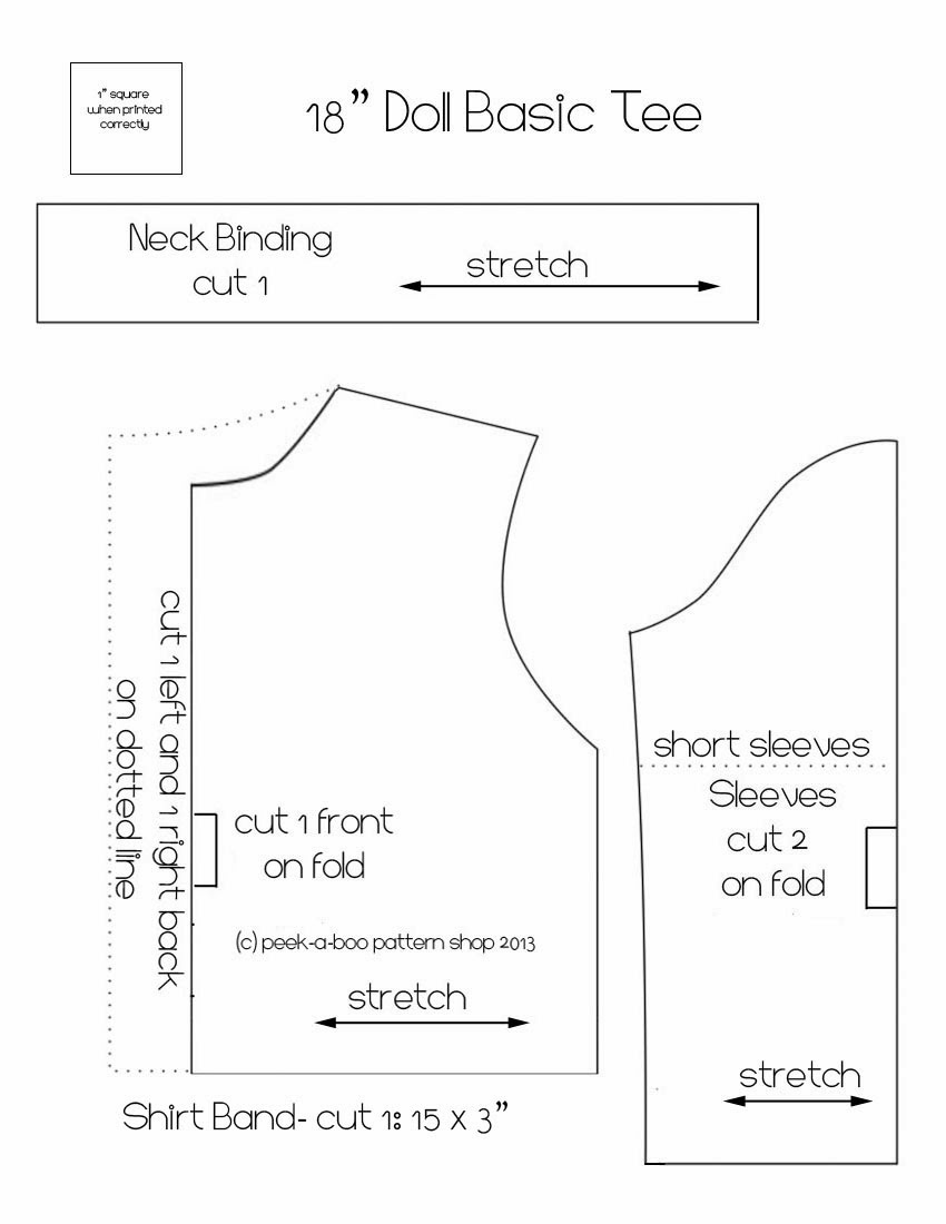 Living A Doll's Life : Free Patterns - American Girl Clothes Patterns Free Printable