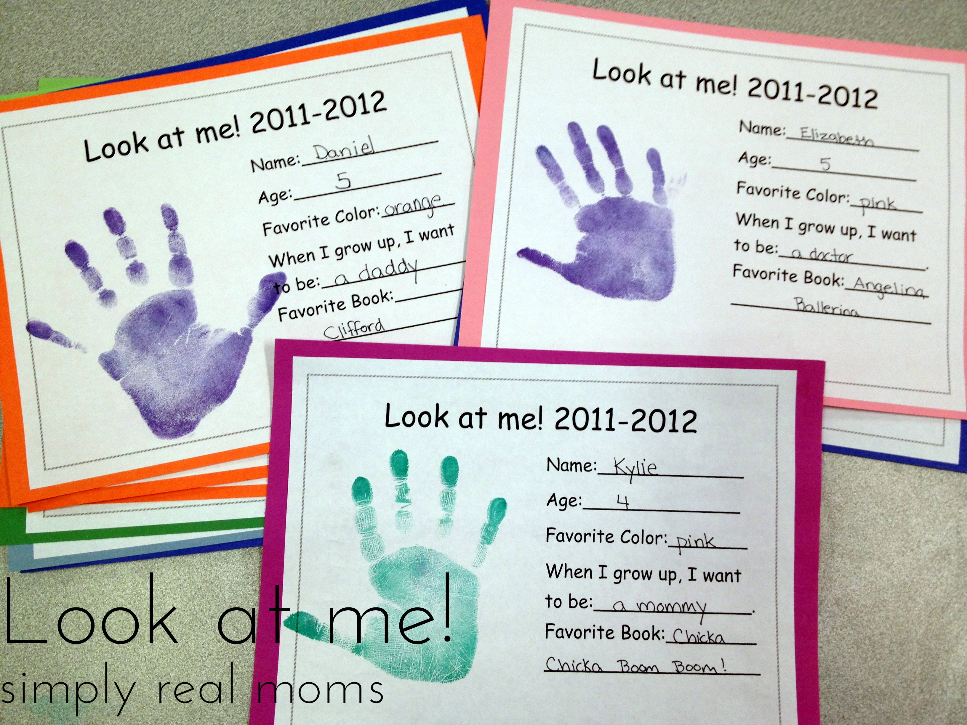 Look At Me With Free Printable - Simply Real Moms - Free Printable Preschool Memory Book