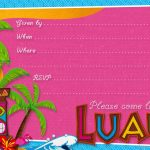 Luau Party Invitation Template Best Of Hawaiian Luau Party   Hawaiian Party Invitations Free Printable