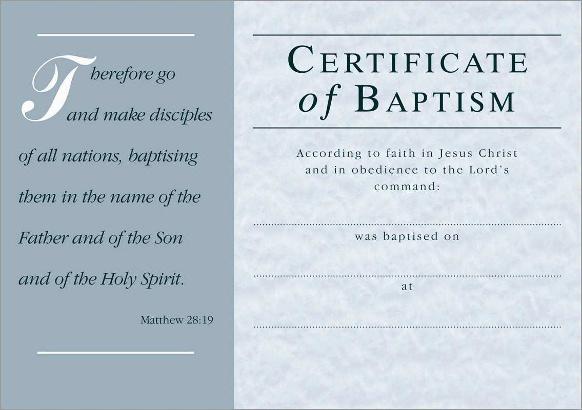Luxury Free Baptism Certificate Template Word | Best Of Template - Free Printable Baptism Certificate