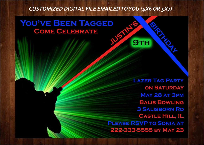 Luxury Free Printable Laser Tag Invitation Template | Best Of Template - Free Printable Laser Tag Invitation Template
